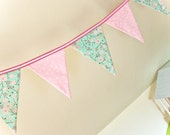 Nursery Decoration, Pink  Baby Shower Bunting,Garden Birthday Party  Banner, Photo Prop