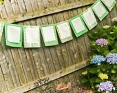 Wedding Party Bunting, Bridal Shower Decoration, Garland, Wish Flag Pastel  Decor Set in Peach Mint