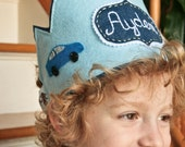 Personalized Felt Crown, Car Birthday Party