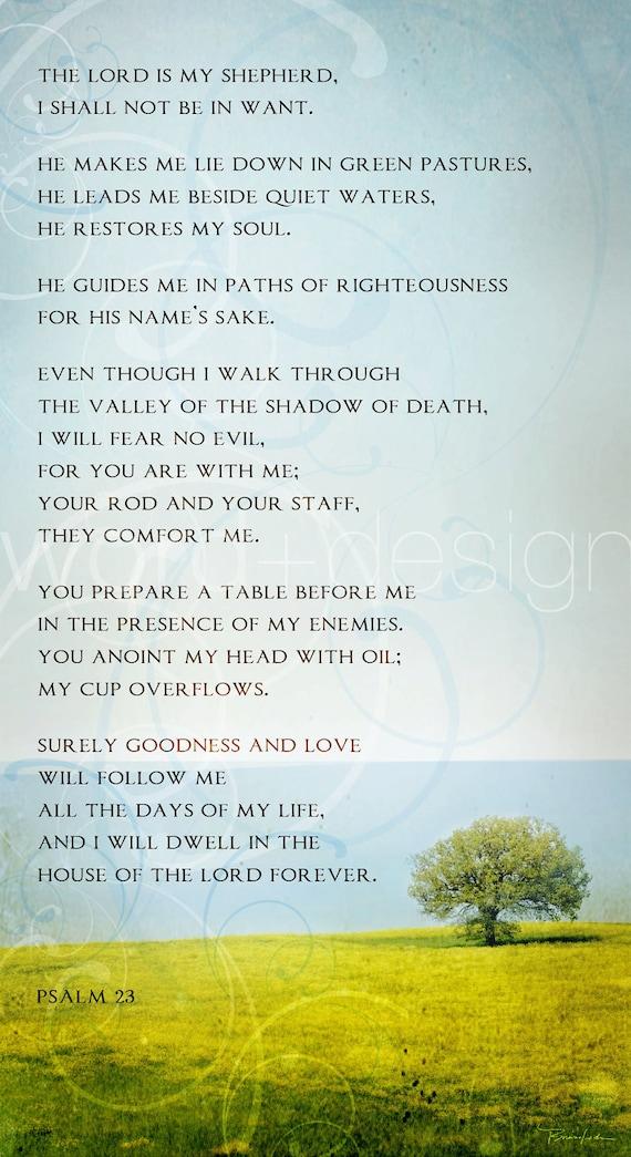 Trust image inside psalm 23 printable