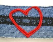 Jean Bracelet - Black Lace Red Heart