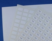blank PRICE TAGS adhesive stickers small rectangle 5/16 by 1/2 inch printer compatible labels  20 SHEETS no.00742