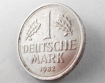 GERMANY  BROOCH. german coin brooch . coin jewelry. coin pin. deutsche mark  Germany  No.00970