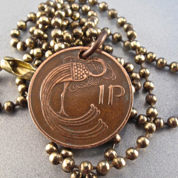 items similar to ireland coin necklace celtic jewelry