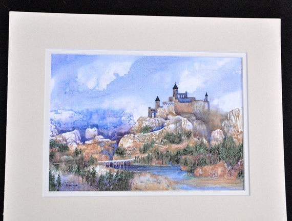 Chatel Cyr by Jerrilyn Emison, castle medieval art