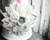 Holiday Christmas Tree Ornament Alice in Wonderland Altered Book Decor