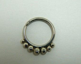 Kin : Gold Nose Ring .. Septum Jewelry .. 14K Gold .. Nose Hoop .. Aprilsblissed .. Nosebling .. Tribal Nose Adornment