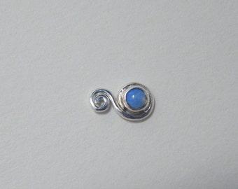 Spirals : Silver Nose Ring .. Silver Nose Stud .. Gemstone Nose Screw .. Aprilsblissed .. Nosebling .. Indian Nose Jewelry