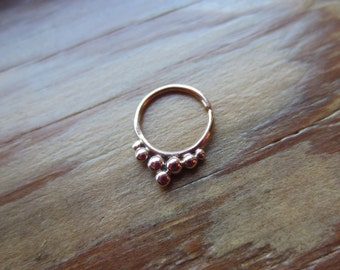 Hoop Drop : Gold Nose Ring .. Septum Jewelry .. 14K Gold .. Aprilsblissed .. Nosebling .. Unique Body Adornment