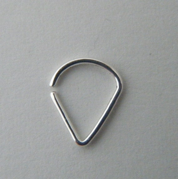 teardrop 999 silver nose ring septum jewelry silver