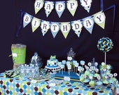 DIY Train Birthday Collection Deluxe PRINTABLE Party Package  Banner Cupcake toppers Invitation more...