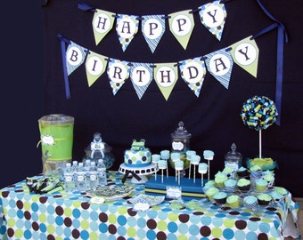 DIY Train Birthday Collection PRINTABLE Party Package  Banner Cupcake toppers Invitation more...