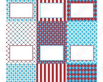 Dr. Seuss Inspired Food Labels Tent Cards  PRINTABLE Red Blue white  Birthday Party decorations baby shower INSTANT DOWNLOAD diy