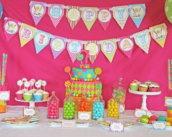 CANDY SHOPPE Birthday Party decorations  Printable deluxe Package DIY sweet shoppe , Sweet Sixteen 16 - Cupcake Express
