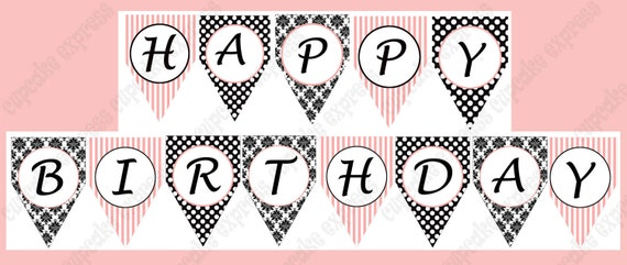 Paris Birthday Banner Paris Birthday Party Paris Birthday
