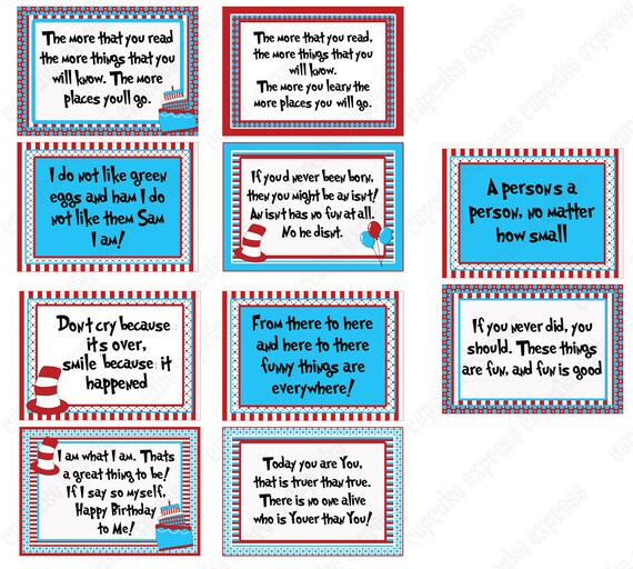 Priceless image intended for dr seuss printable quotes