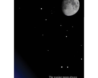 Waxing Moon Card
