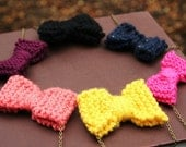 Little Knitted Bow Necklace - BLACK FRIDAY SALE