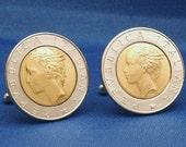 Italy 500 Lira Coin Cufflinks - Repubblica Italiana