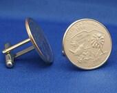 South Carolina Palmetto State  2000 Quarter 25c USA Coin - New Cufflinks
