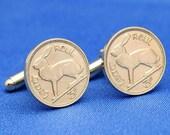 Irish Rabbit Hare Ireland 3 Pence Coin - Cufflinks
