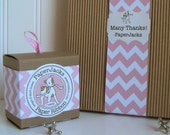 NEW Pink Chevron Paper Ribbon