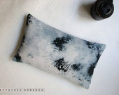 Linen Mini Oblong Throw Pillow .. L u n e  / FRAGMENTS