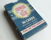 Answer or Else Party Card Game by Whitman Publishing Similar to Truth or Dare Fun Birthday Party Activity