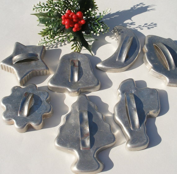 Vintage Christmas Cookie Cutters Lot By Bornatthewrongtime