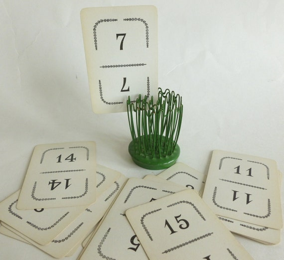 Table Number Markers from Vintage Playing Cards for the Eco Chic Wedding, Bridal or Baby Shower Lot of 15 from the Game Flinch