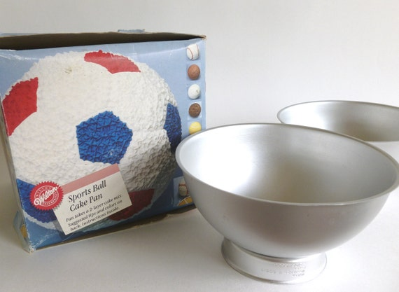 Wilton Sports Ball 3d Cake Pan 1990 Soccer Baseball Golf