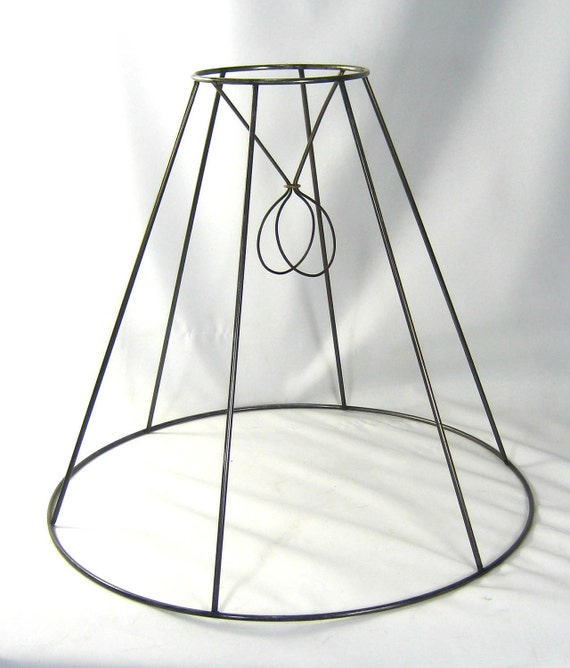 Lamp Shade Wire Frame Vintage Medium Size For Table Or Floor