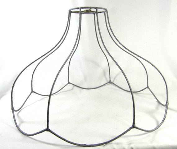 Reserve For Nicole 9 Lamp Shade Wire Frame Scallop Vintage