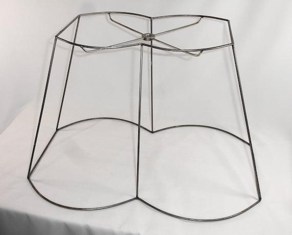 lamp shade frame custom handmade out scallop rectangle design. Black Bedroom Furniture Sets. Home Design Ideas