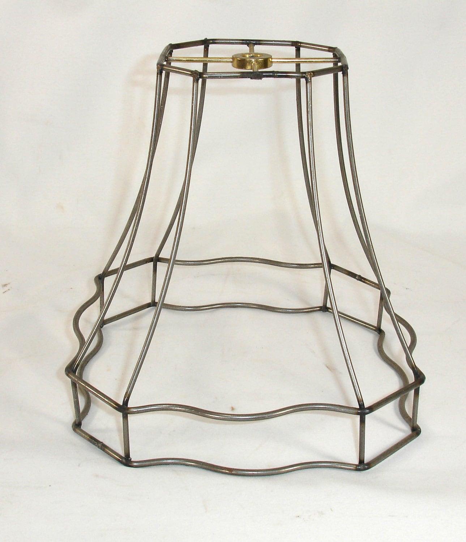 lamp shade frame fancy shape scallop bottom table wire frame. Black Bedroom Furniture Sets. Home Design Ideas