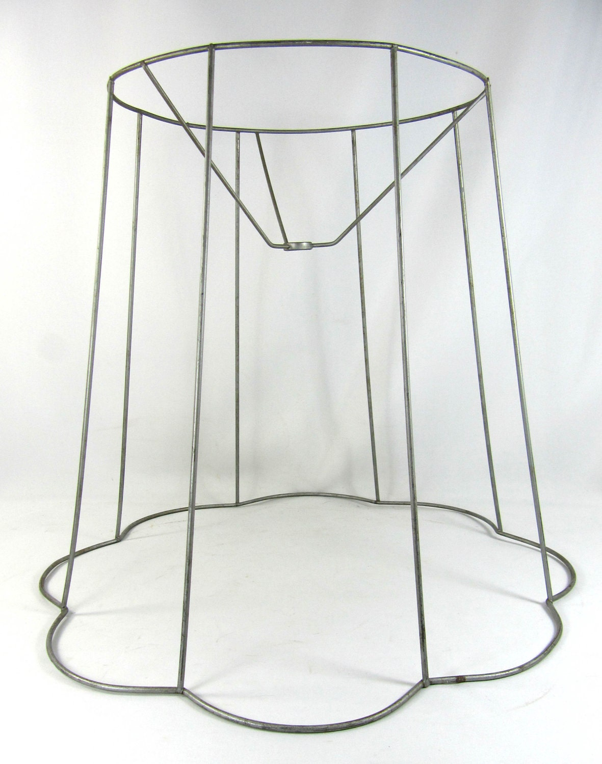 Lamp Shade Vintage Table Or Floor Wire Frames Out Scallop