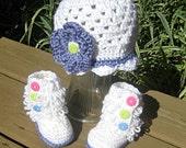 Crochet Baby Hat and Ugg Booties