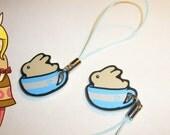Cuppa Bunny phone charm inde cute