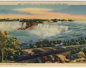 Linen Niagara Falls postcard  from Michigan Central Train Metrocraft