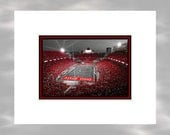 A Scarlet Stage - 5x7 Matted Ohio State Buckeyes Ohio Stadium Columbus Ohio Art Print by Kenneth Krolikowski - Free Shipping