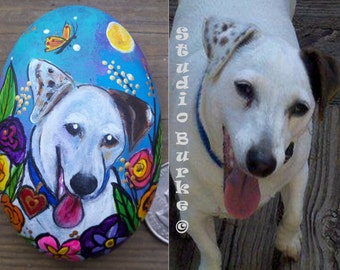 Custom Painted Your Pet Rock Made to order from your photo