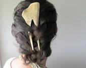 Elk Antler Hair Comb Hair Fork Statement Hairpiece Tribal Fashion
