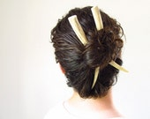 Organic Horn Hair Accessories Carved Deer Antler Ivory Hair Chop Sticks