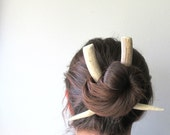 Large Deer Antler Horn Hair Sticks Tusk Wearable Taxidermy Long Hair Accessory