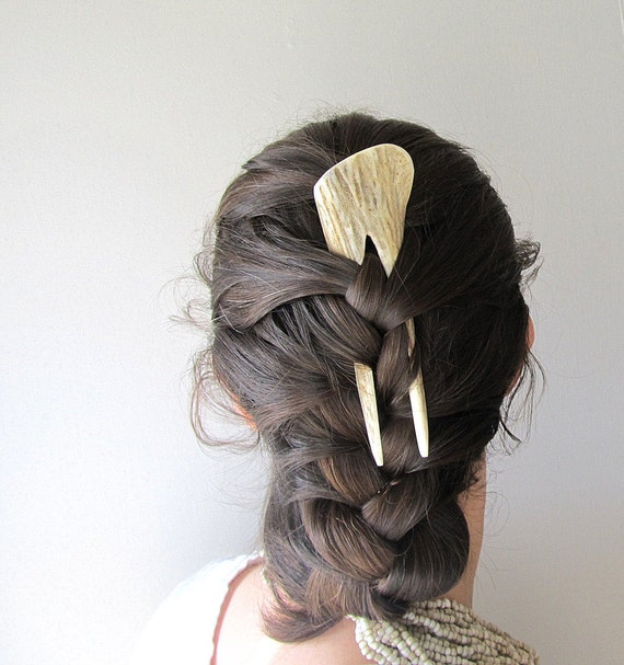 Elk Antler Hair Comb Hair Fork Statement Hairpiece Tribal Fashion