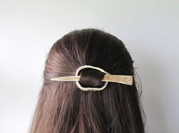 Elk Antler Hair Pin or Shawl Pin