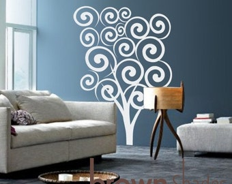 New Design : Swirly Tree Wall Decal