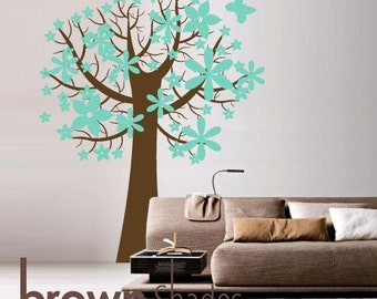 Lovely Waxy Trumpet Tree : Custom Color Tree Removable Wall Vinyl