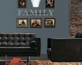 Family Is Where Our Story Begin Wall Vinyl Decal