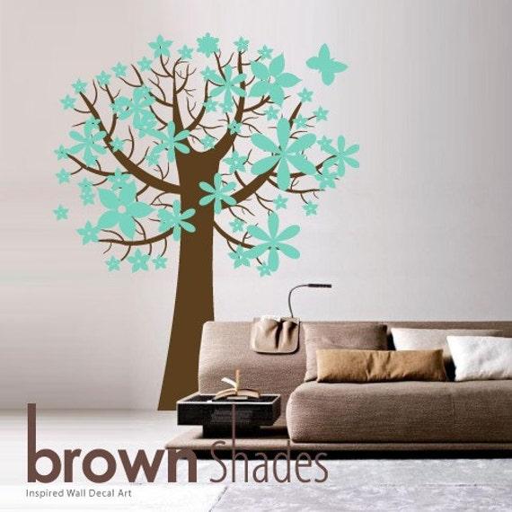 Lovely Waxy Trumpet Tree : Custom Color Tree Removable Wall Vinyl